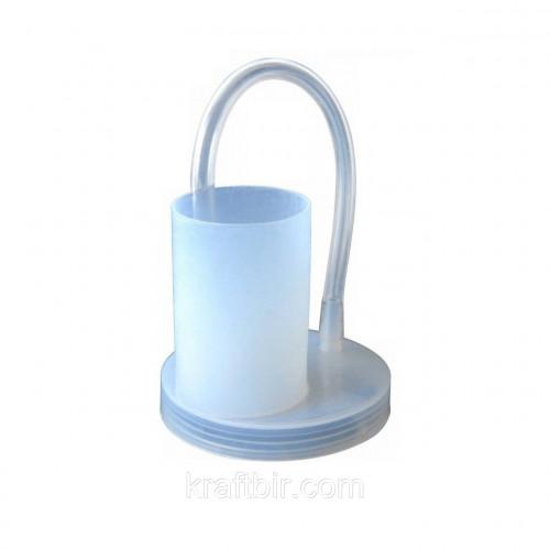 Гидрозатвор-крышка с трубкой